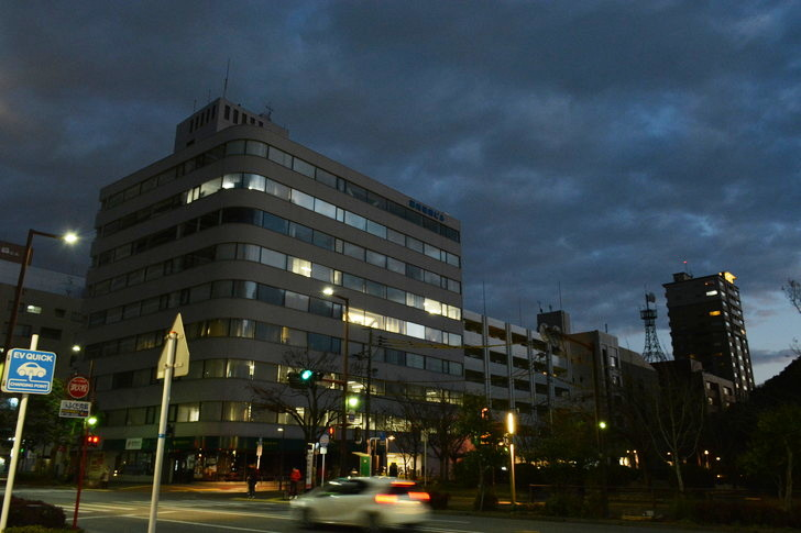 【福岡散歩日誌7】夕方の「舞鶴・赤坂辺り」を散歩【12月】:日が本格的に暮れてきた
