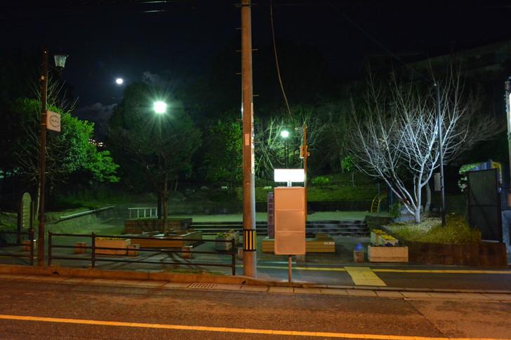 【福岡散歩日誌4】深夜の浄水通り:バス停と小さな公園