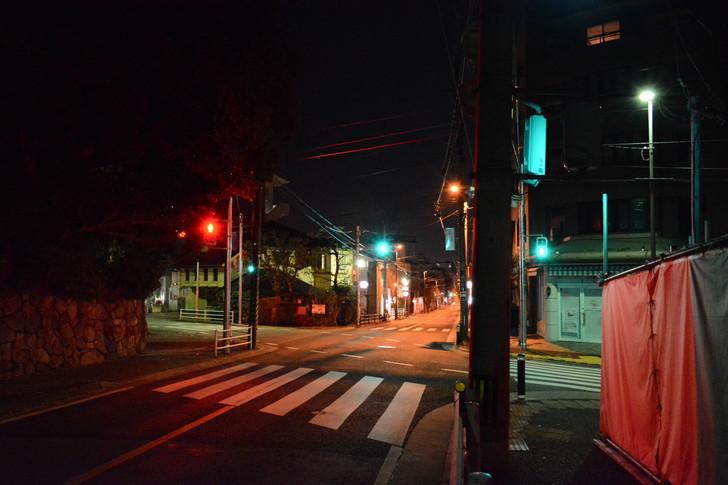 【福岡散歩日誌4】深夜の浄水通り:交差点