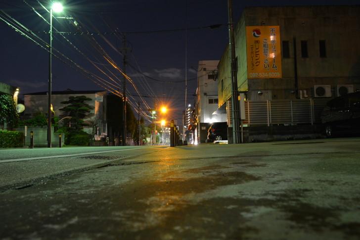 【福岡散歩日誌4】深夜の浄水通り:もう少しで山荘通り