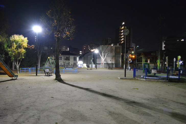 【福岡散歩日誌4】深夜の浄水通り:山荘公園