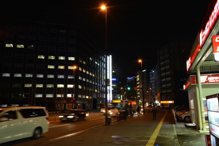 【福岡散歩日誌5】夜の薬院駅付近を散歩【12月】:薬院大通り
