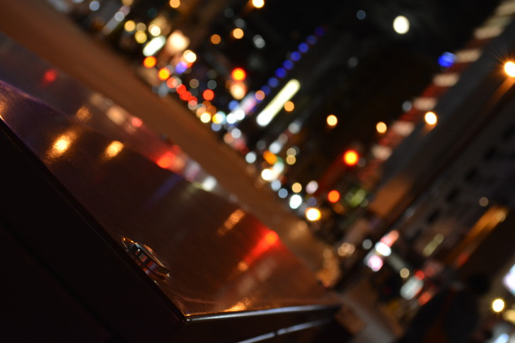 【福岡散歩日誌5】夜の薬院駅付近を散歩【12月】:夜の道路