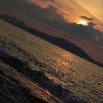 「志賀島(しかのしま)」で夕日を見てきた