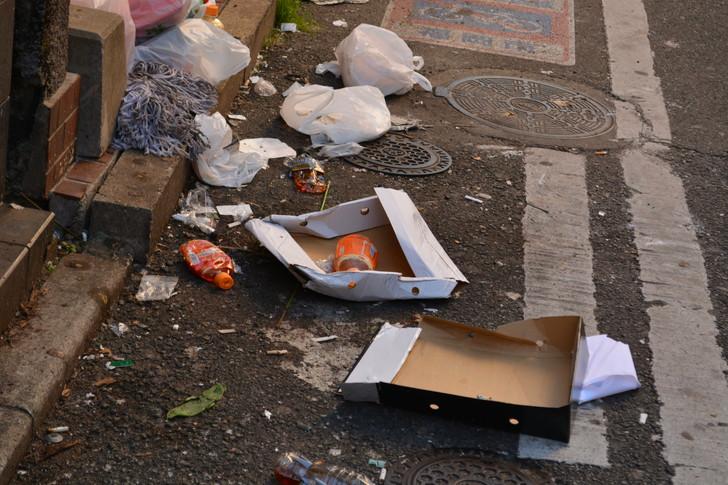 【福岡散歩日誌9】昼の「中州」を散歩【1月】:良い感じにゴミが散らばってました