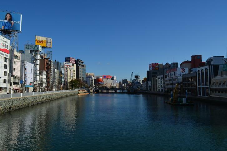 【福岡散歩日誌9】昼の「中州」を散歩【1月】:橋の上で撮影した那珂川2