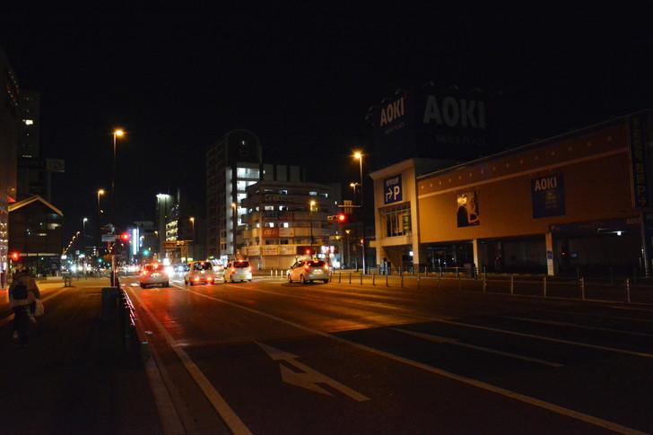 「日赤病院前(日赤通り)」と「高宮駅」近くの飲食店街を散歩【1月】:清水四つ角交差点