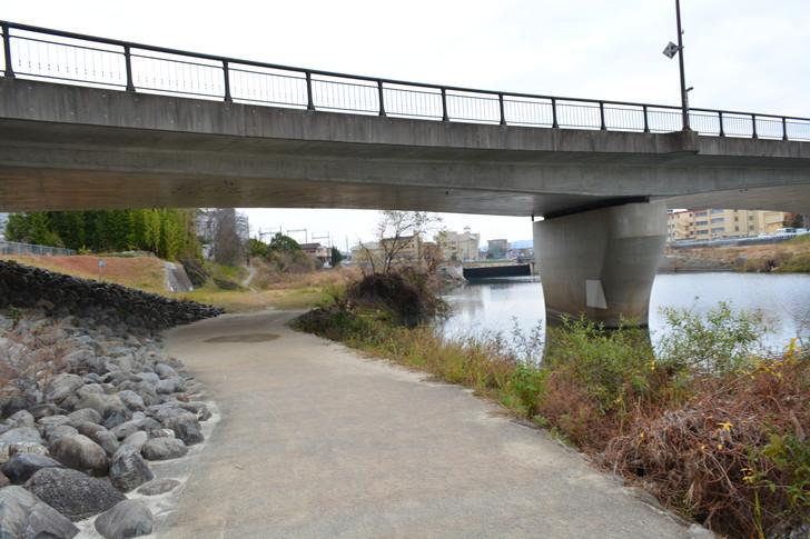 河川敷から見る橋
