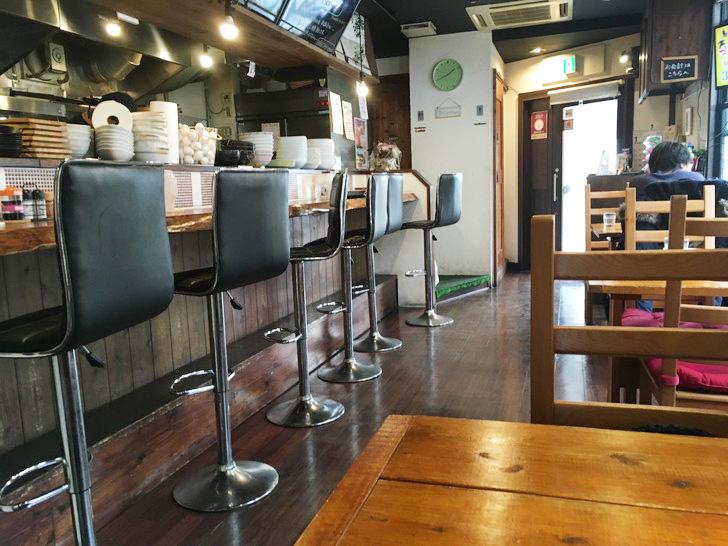 今日のランチはココ。薬院の食堂「笑うかど」グルメレポート:店内の雰囲気