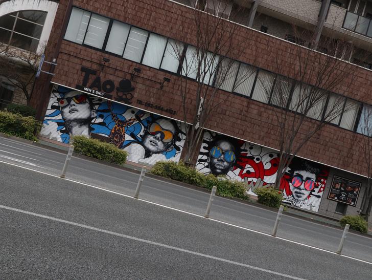 区役所周りの落ち着いた通り「福岡市南区塩原」をゆったり散歩:かっこいいグラフィティ