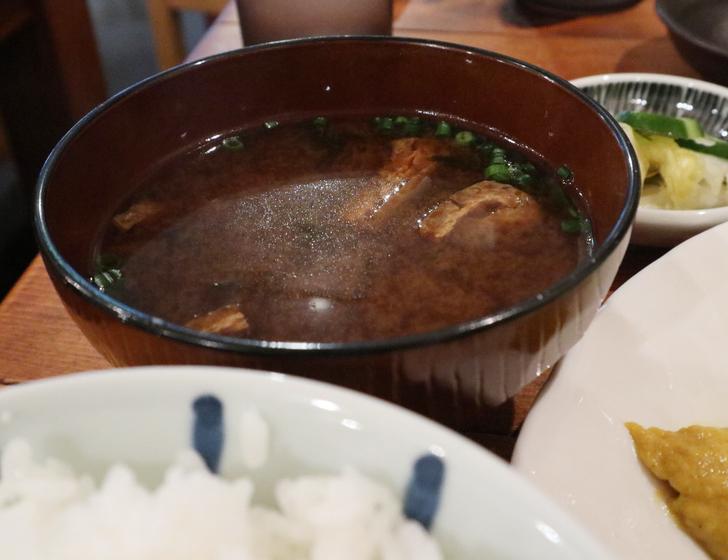 赤味噌のお味噌汁