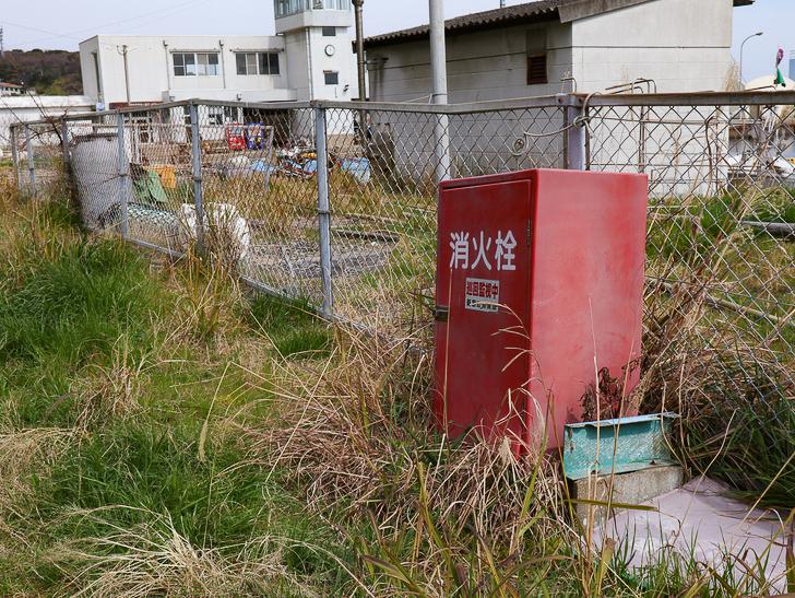 島民328人に対し「猫民100匹」!「相島(あいのしま)」に行ってきた:フェンスと消火栓