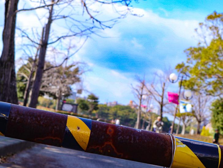 大きな池越しの都会「大濠公園」をまったり散歩:錆びと大濠公園