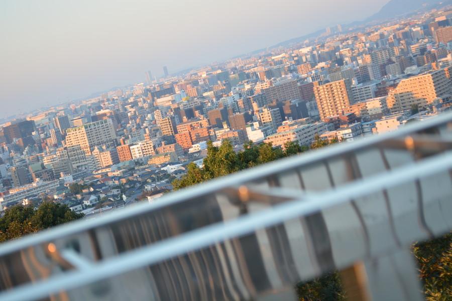 【穴場】夜景が最高な「平和南緑地展望台」に行ってきた【夕方・夜】