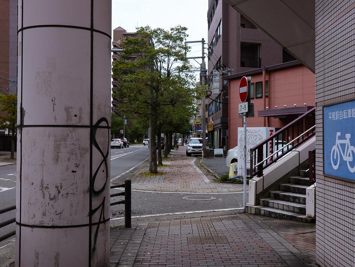 【南区大楠2丁目】静かな並木道をゆったり散歩:平尾駅:高架下からの1枚