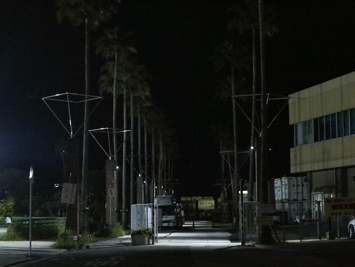 【ベイサイドプレイス博多(深夜)】やっぱり夜の海は良い: 「サンセットパーク」への道