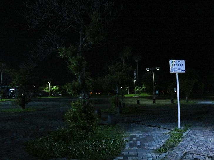 【ベイサイドプレイス博多(深夜)】やっぱり夜の海は良い: サンセットパーク