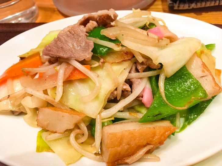 【平尾】おかずの組み合わせは自由自在「キッチン 中田中」グルメレポート: 野菜炒め(カテゴリー:野菜)