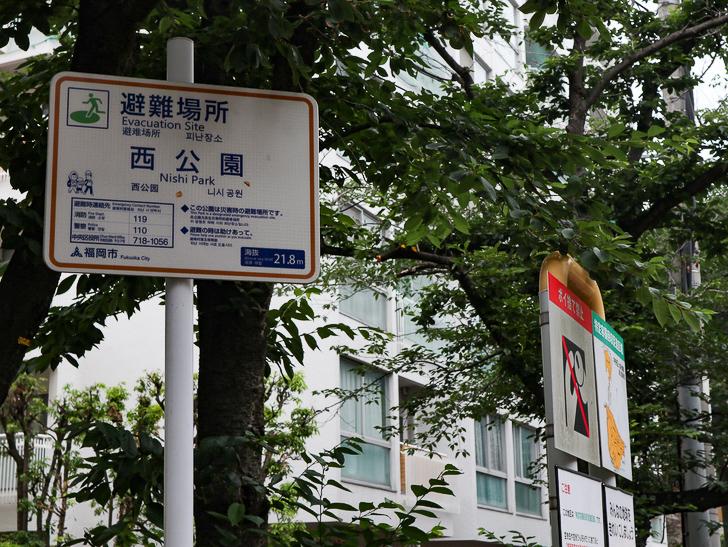 天神近くにある避暑地「西公園」「光雲神社」を散歩: 「西公園」の案内板