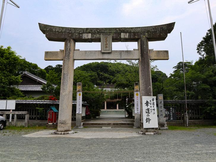 天神近くにある避暑地「西公園」「光雲神社」を散歩: 「光雲神社」入り口の鳥居