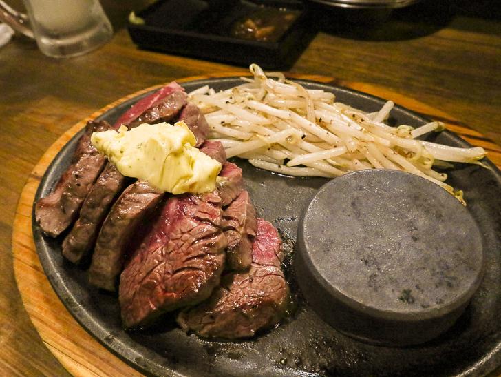 【高砂】贅沢「ステーキ」とリーズナブルな「お好み焼き」が楽しめる「一番星」グルメレポート: サガリステーキ(1,460円)