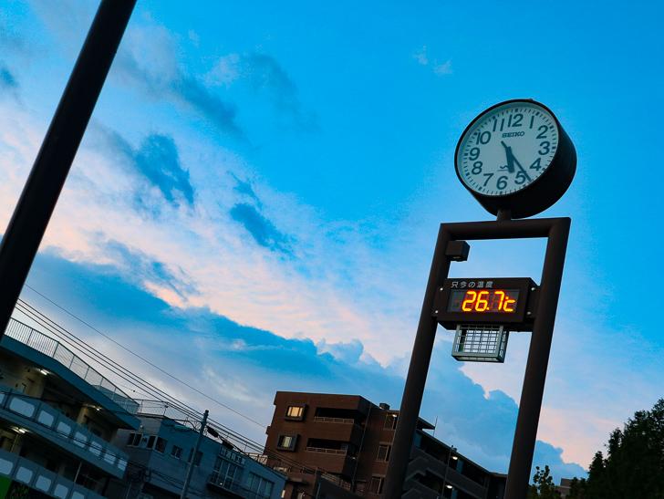 青空と時計