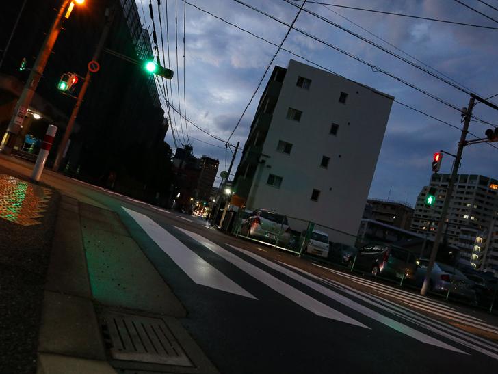 小さい交差点