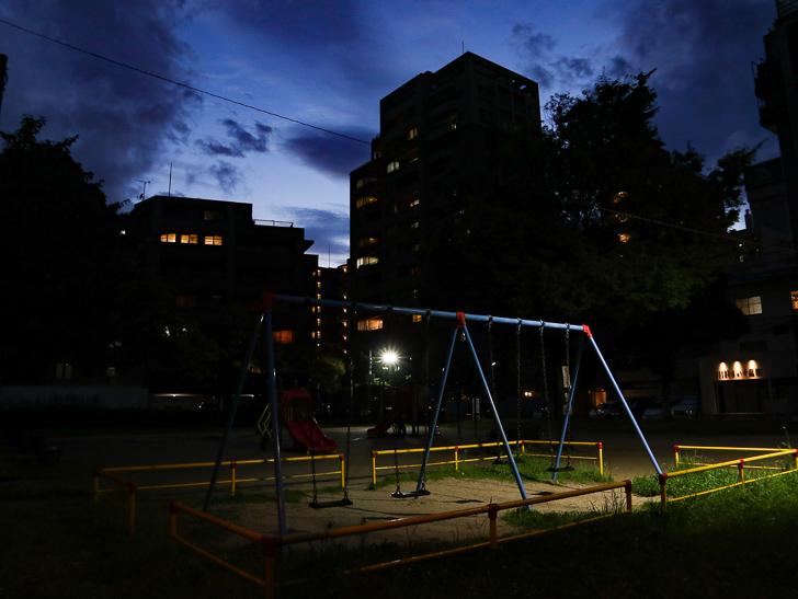 夜の市崎公園