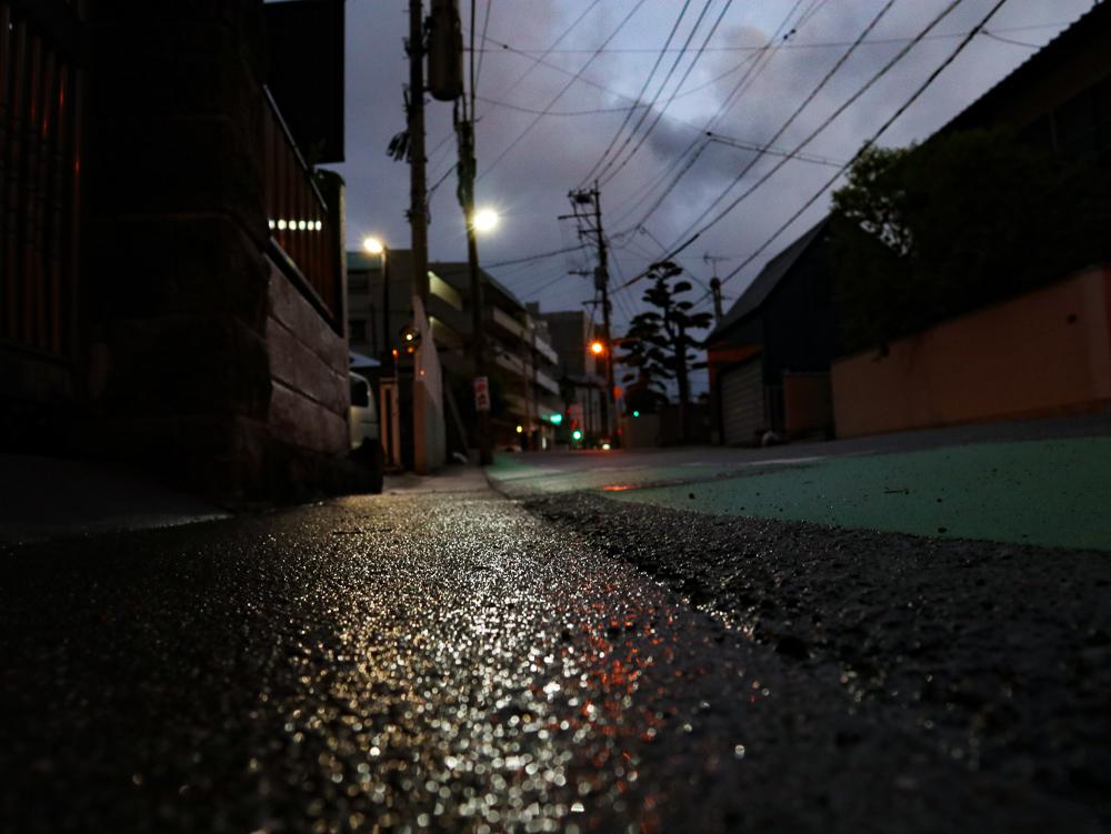 【高宮1丁目~市崎1丁目】雨上がりの夕方。「市崎公園」と近くの住宅街を散歩