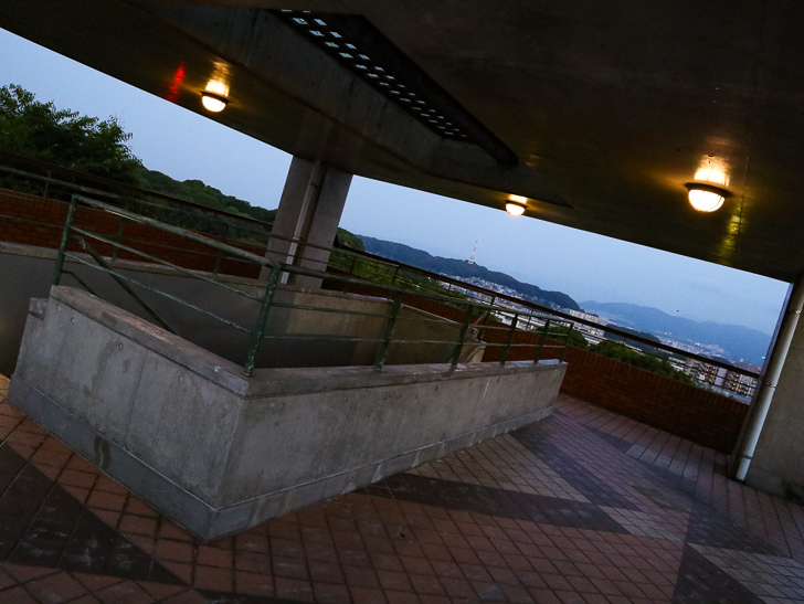 西展望台 最上階の様子
