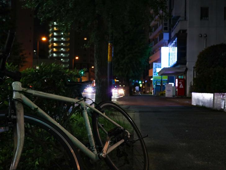 自転車と歩道