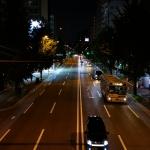 夜の百年橋通り「那の川~美野島」を散歩