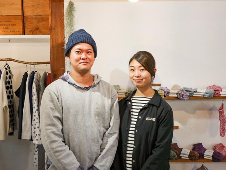 店主の綾部夫妻(左:綾部 舜さん、右:綾部 光里さん)