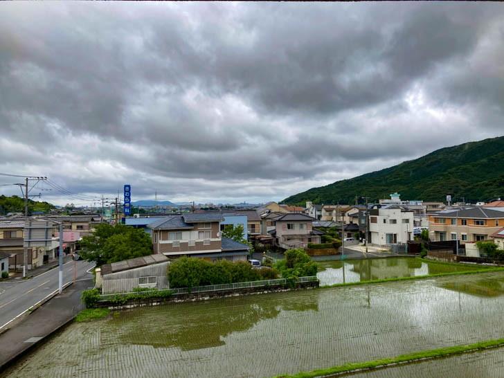 水田と戸建て住宅