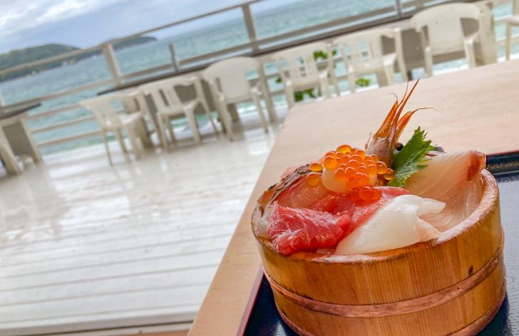 海鮮丼と海