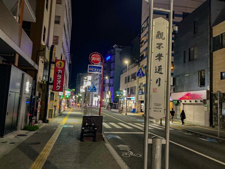 """カラオケ/バー/ラウンジ的な""""夜の店""""が立ち並んでいる"""