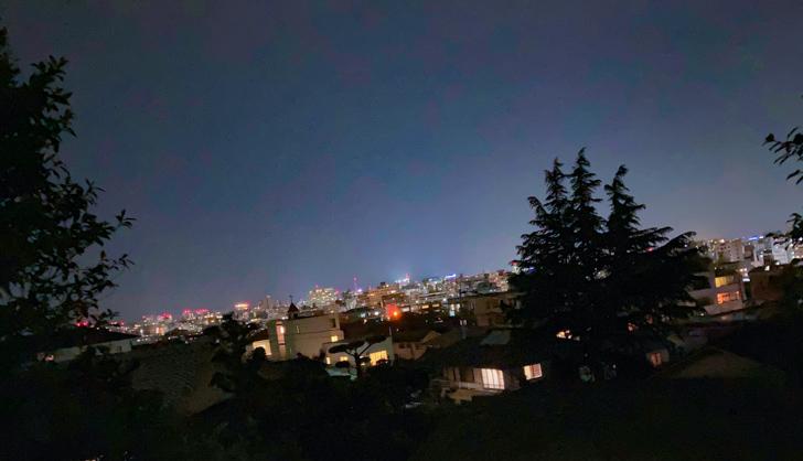 多賀北緑地から見える夜景