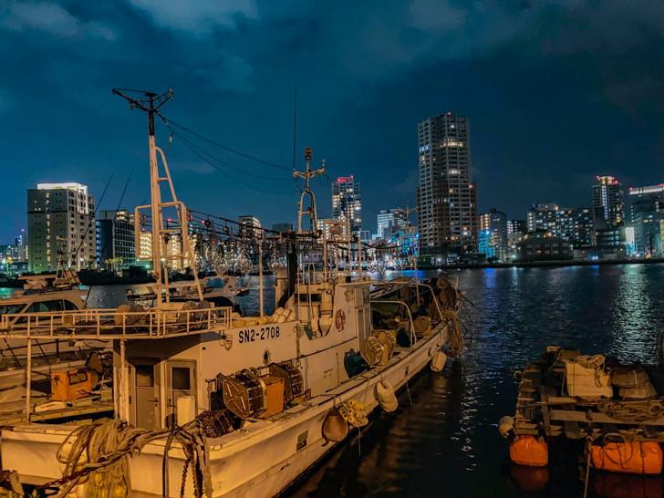 船と海と夜景