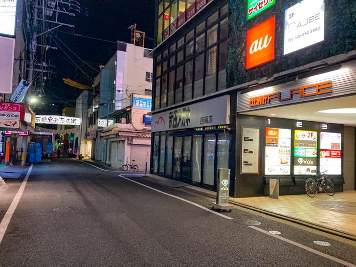 西新中央商店街:誰も居ない
