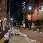 【西新】深夜の「オレンジ通り」を散歩